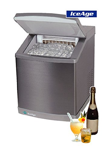 41IZZJua5WL - 4045 Ice Age - Ice Maker - Stainless Steal - 20 KG - Manual Filling and External Water Supply - Clear Ice Cubes