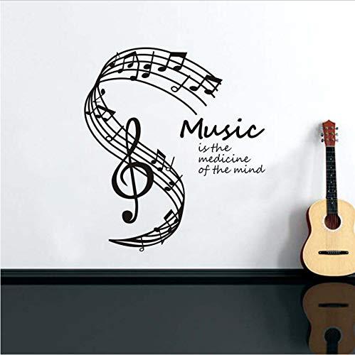 n Des Geistes Wandaufkleber Für Wohnzimmer Dekoration Noten Daube Music Note Wandtattoos Wohnkultur 58x66 cm ()