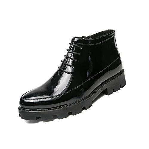 Fahren Schuhe High Top (Zxcer Herren High-top Schuhe Müßiggänger Flache Oxfords Freizeitschuhe Leichte Formelle Business-Arbeit Komfort Fahren Schuhe (Farbe : Schwarz, Größe : 38 EU))