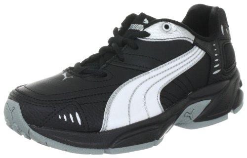 69ddadd898e5e9 Puma Unisex - Children Xenon Trainer Jr Trainers 185699 Black-White- 1 UK