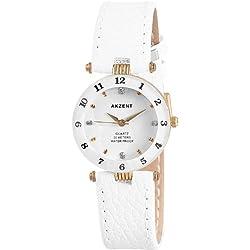 Akzent Damen-Uhren mit Polyurethan Lederband SS7302000014