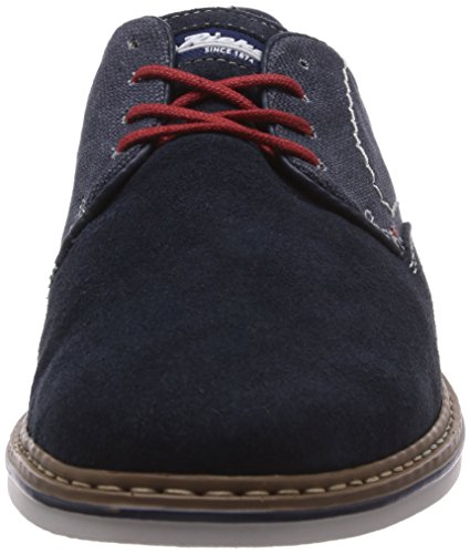 Homens Rieker B1402 Derby Lace Up Brogues Azul (pacífico / Denim / 14)