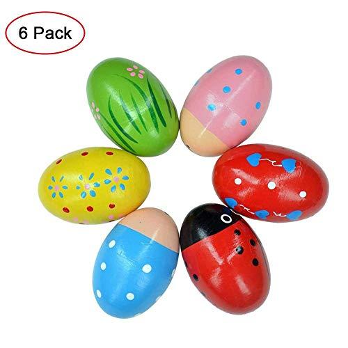 TOMACIÓN 6PCS Dibujos Animados Lindos Coloridos Huevos