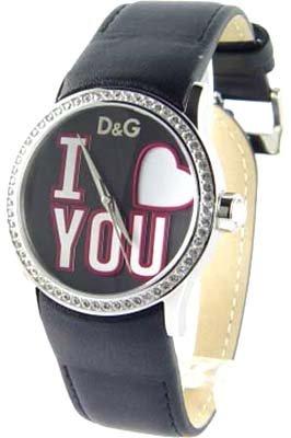 Dolce & Gabbana Dolce&Gabbana – Reloj analógico de cuarzo para mujer con correa de piel, color negro