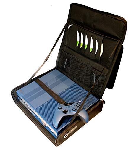 XBOX 1 KOMPATIBELE, ROBUSTE, SCHWARZE REISETASCHE. NEUES PRODUKT MIT VERSTELLBAREN, GEPOLSTERTEN SCHULTERRIEMEN. ROBUST UND MODISCH - GEEIGNET FÜR FLUGHAFEN HANDGEPÄCK. - Erwachsenen-flughafen