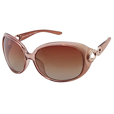 Duco Women's Classic Star Polarized Sunglasses 100% UV Protection 1220 (Champagne)