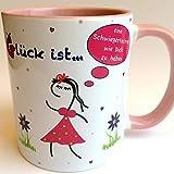 Beste Schwiegertochter der Welt, rosa, Tasse mit Spruch: Glück ist eine Schwiegertochter wie Dich zu haben, Geschenkidee für Schwiegertochter, Schwiegertochter Geschenk, last minute Geschenk
