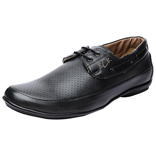 Buckaroo Men's Neron Black Leather Sneakers - 6 UK/India (40 EU)  available at amazon for Rs.878
