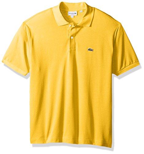 Medium-Calcutta-Yellow-Lacoste-Mens-Short-Sleeve-Pique-L1212-Classic-Fit-Polo-Shirt-Past-Season