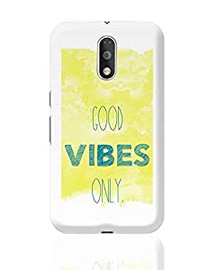 Posterguy - Good Vibes Only! Covers & Cases For Moto G4 Plus (Yellow) Designed By: Shefali
