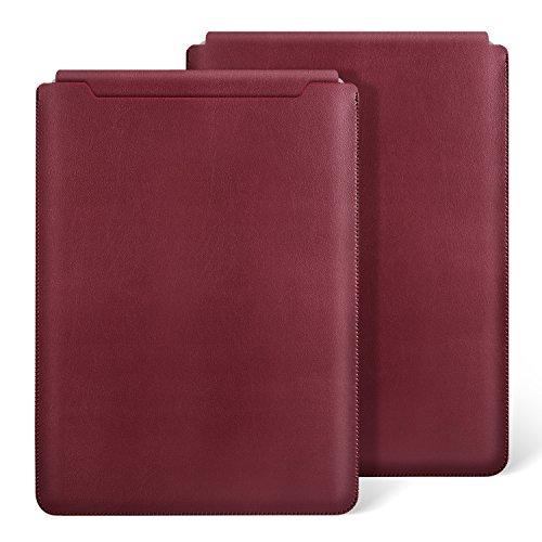 Ayotu Macbook Air 13 Zoll Laptop Hülle Wasserdicht Mikrofaser PU Leder für Macbook Air 13 (A1369/A1466) / Pro 13 Retina 13.3 Zoll (A1425/A1502) Notebooktasche Schutzhülle Case Leather Sleeve Hülle,Rot
