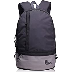 F Gear Burner GB 19 Ltrs Dark Grey Casual Backpack (2449)