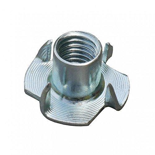 Einschlagmuttern für Klettergriffe M10 x 13 x 25 mm galvanisch verzinkt, Menge: 50 Stück