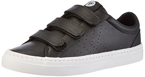 Hummel Deuce Court Velcro, Scarpe da Ginnastica Basse Unisex – Adulto Nero (Black)
