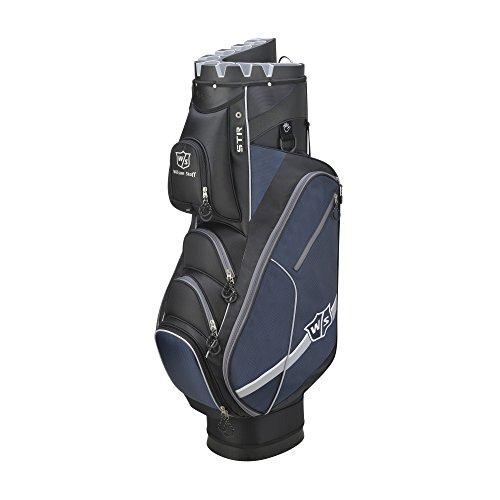 Wilson Golf WGB4319BL Sac Chariot Homme, Noir/Bleu, Taille Unique