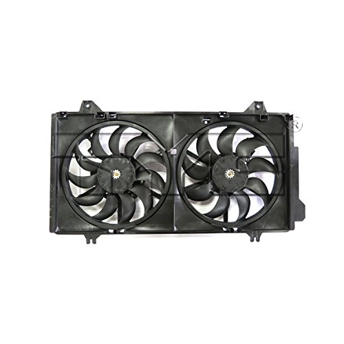 TYC Products 623250 Dual Radiator and Condenser Fan Assembly