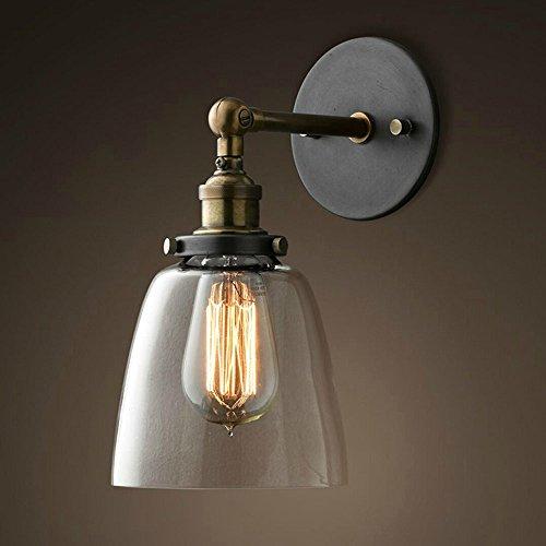 MMYNL Vintage Glas Wandlampen Rustikale Land Wandleuchten Retro Montiert Wandspiegel Lampen für Schlafzimmer Wohnzimmer BAR Flur Badezimmer Küche Innen Lampen (Rustikale Kerze Wandlampen)