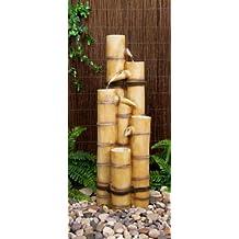 fuente de agua cascada de caas de bamb