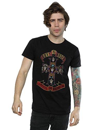 Guns N Roses Men's Appetite for Destuction Distressed T-Shirt