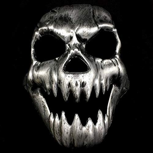 JIAENY Scary Ghost Skull Skeleton Party Antike Maske Hohlmund Augen Vollgesichtsmaske Armee Spiele Halloween Cosplay Party Decor,2 (Kunststoff Armee Männer Kostüm)