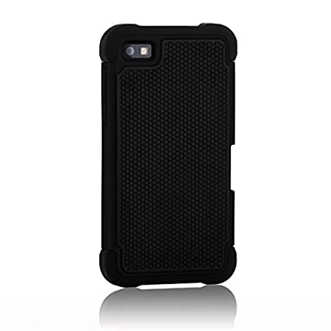 32nd Etui Coque Antichoc Double Couche per Blackberry Z10 Coque de Protection Robuste - Noir