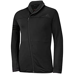 2015 Adidas Sport ClimaHeat Concept Layering Asymmetrical-Zip Top Mens Lightweight Golf Cover-Up Black XL