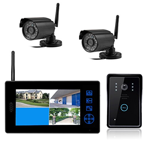 SYSD 818MJWD2 7 - inch Wireless Long - range Video Surveillance Video Doorbell Four - screen Monitoring Video Intercom  SYSD