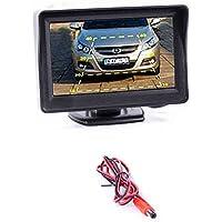 2Entrada Color de vídeo Monitor de la pantalla Display Panel para marcha atrás parte delantera & Trasera–Permite la instalación de 2Cámaras para delantera y trasera de su vehículo