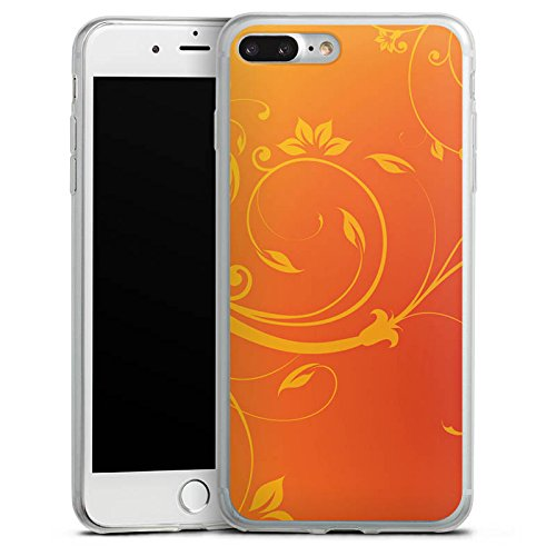 Apple iPhone X Slim Case Silikon Hülle Schutzhülle Ornamente Blumen Ranken Silikon Slim Case transparent
