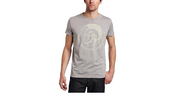3308e417fec Diesel - T-shirt - Homme - T-shirt Diesel homme T-Nana 94G gris - S   Amazon.fr  Vêtements et accessoires