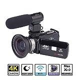 Beatie 4K 24MP 30FPS WiFi Caméra Caméscope Ultra HD Caméra Vidéo, Professionnel...