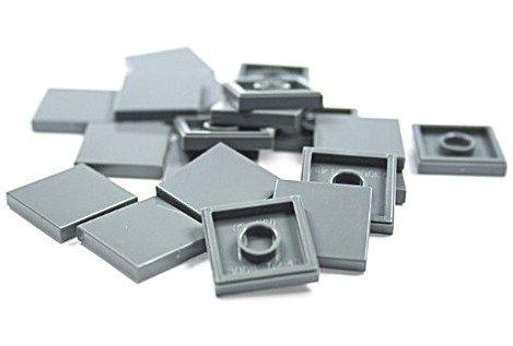 Preisvergleich Produktbild LEGO CITY - 20 FLIESEN im dunklem Grau mit 2x2 NOPPEN KACHELN GLATTE PLATTEN - 3068