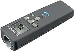 Goobay 77143 Ultraschall Entfernungsmesser mit Laser-Fokussierung grau