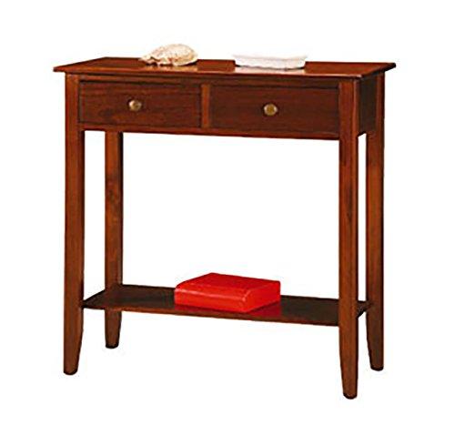 Konsole Beistelltisch Möbel Haus Design 2Schubladen 1Ablage Nussbaum (Schublade Beistelltisch 2 Nussbaum)