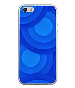 PrintVisa Designer Back Case Cover for Apple iPhone 4 (Texture Brown Background Blue Backcase Pouch)