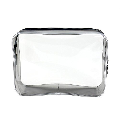 La Cabina Sac Cosmétique Imperméable Portatif Trousses de Toilette Sac Voyage Sac de Maquillage Transparent en Plastique de PVC
