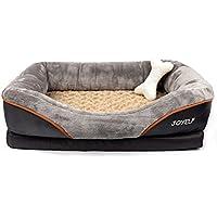 JOYELF Cama de espuma viscoelástica para perro, cama ortopédica y sofá con funda extraíble lavable