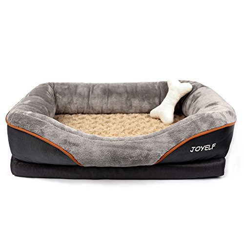 JOYELF-Medium-Memory-Foam-Dog-Bed-Orthopedic-Dog-Bed-Sofa-with-Removable-Washable-Cover-and-Squeaker-Toys-as-Gift