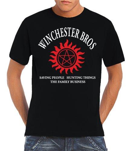 Touchlines - T-shirt, Uomo, Nero (Black), S