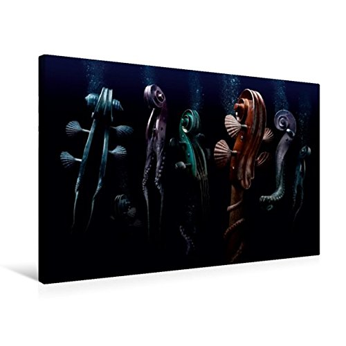 Preisvergleich Produktbild Premium Textil-Leinwand 75 cm x 50 cm quer, cello maritimo | Wandbild, Bild auf Keilrahmen, Fertigbild auf echter Leinwand, Leinwanddruck (CALVENDO Kunst)