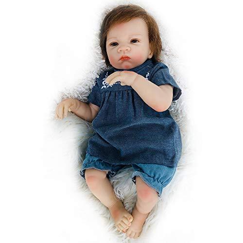 nsechte realistische wiedergeborene Babypuppe 20 Zoll Neugeborenen Puppen handgemachte Kleinkind schönes Spielzeug Geschenk für Alter 3+ (A) ()