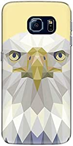 The Racoon Grip printed designer hard back mobile phone case cover for Samsung Galaxy S6 Edge. (Yellow Eag)