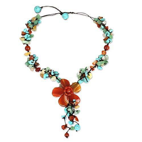 novica-orange-achat-und-chalcedon-y-necklace-mit-loop-button-schliessung-432-cm-sommer-blume