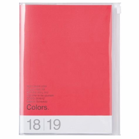 MARK'S 2019 Taschenkalender A5 vertikal, COLORS Red