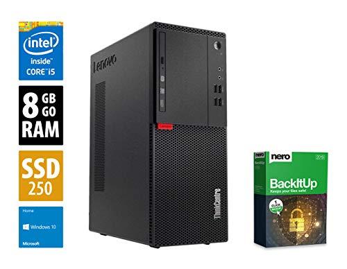 Lenovo ThinkCentre M910t MT | PC | Computer | Intel Core i5-7500 @ 3,4 GHz | 8GB DDR4 RAM | 240GB SSD | DVD-Brenner | Windows 10 Home (Zertifiziert und Generalüberholt) (Desktop-nero Windows 7)