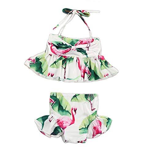 BESPORTBLE Kleinkind Baby Mädchen Zwei Stücke Bikini Set Flamingo Bademode Strand Badeanzug für Höhe 80 cm