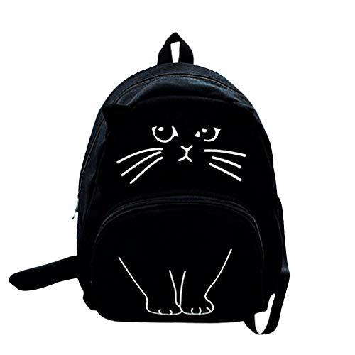3D Cat Printing Rucksack Frauen Tasche Canvas Bookbags -