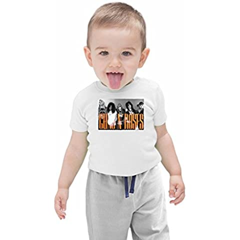 Guns N Roses Members Bebé camiseta ecológica Stylish Organic Baby T-shirt Fashion Fit Kids Printed Clothes by Genuine Fan