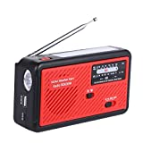 MOLEBIT Emergency Radio with Solar and Hand Crank Self Powered, Portable FM/AM NOAA