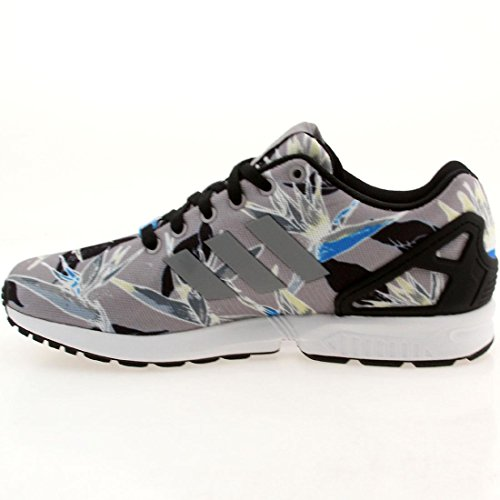 Adidas Youths ZX Flux Mesh Trainers Grey